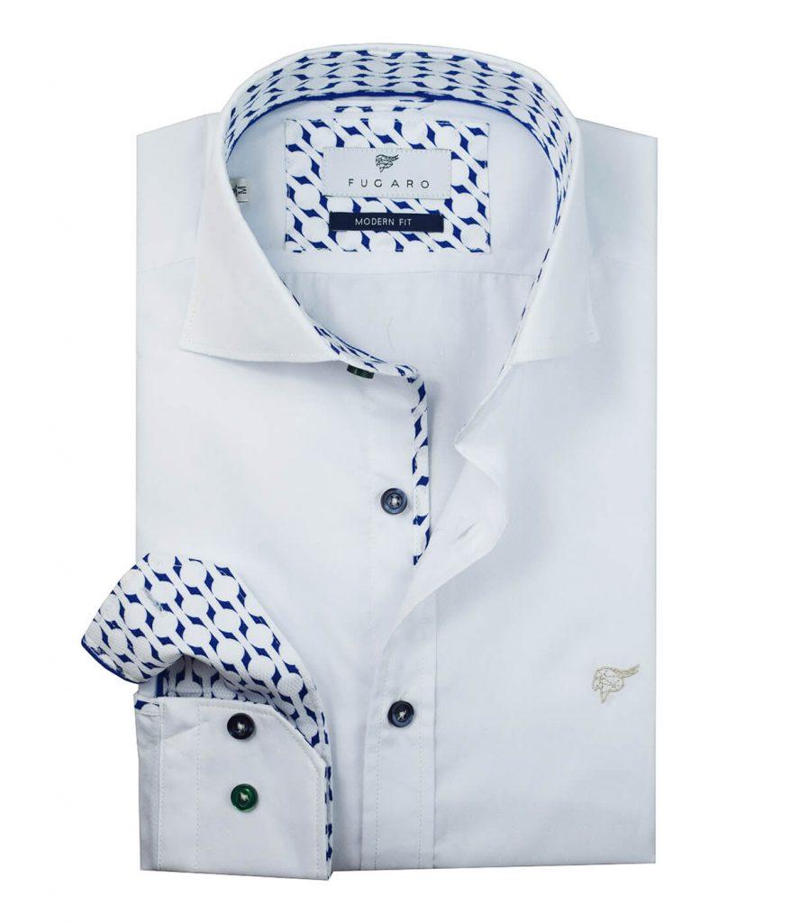White shirt printed detail