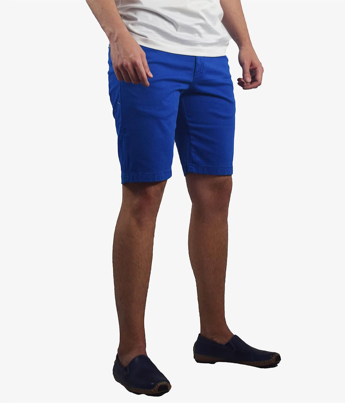 ccb38ff3b5 Blue stretch poplin shorts | Fugaro
