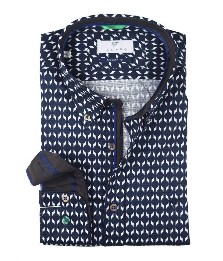 Navy printed shirt