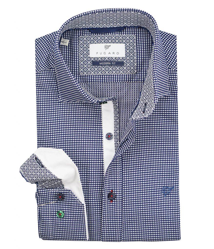 Blue jacquard shirt