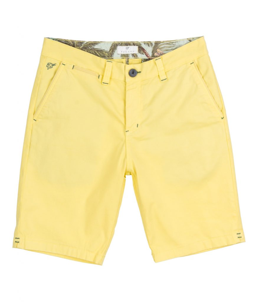 Lemon stretch poplin shorts