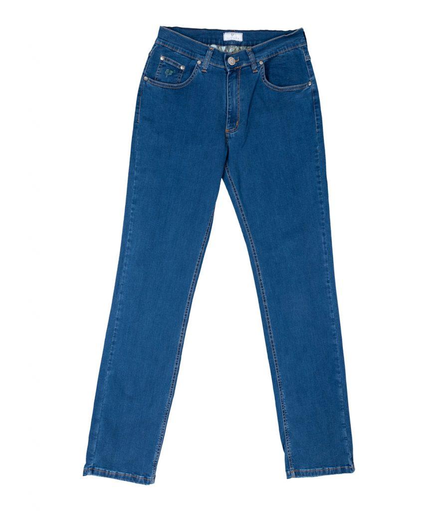 Comfort fit jeans in blue stretch denim